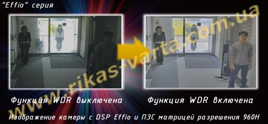 DSP Effio - режимы расширенного динамического диапазона WDR